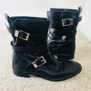 ALEXANDER WANG Louise Moto Boots Size 39